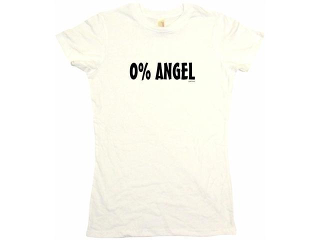 0% Angel Women's Babydoll Petite Fit Tee Shirt