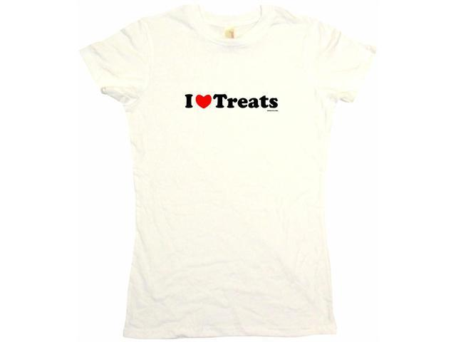 I Heart (Love) Treats Women's Babydoll Petite Fit Tee Shirt