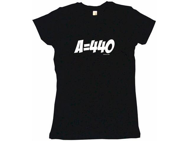 A = 440 Guitar Tuning Reference Women's Babydoll Petite Fit Tee Shirt