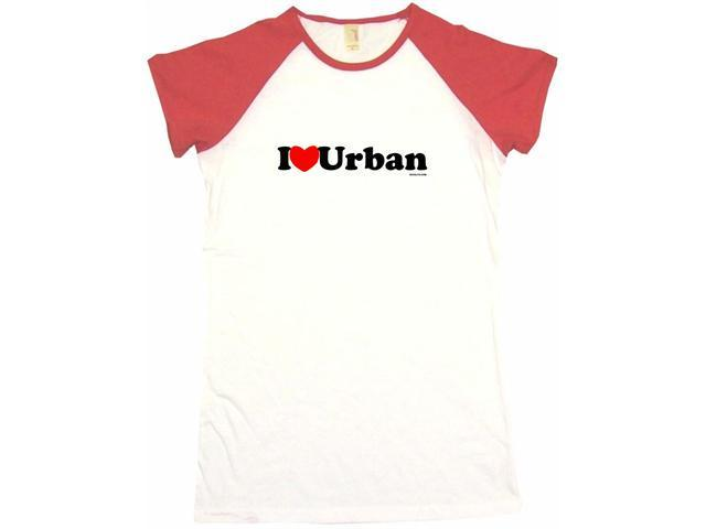 I Heart (Love) Urban Women's Babydoll Petite Fit Tee Shirt
