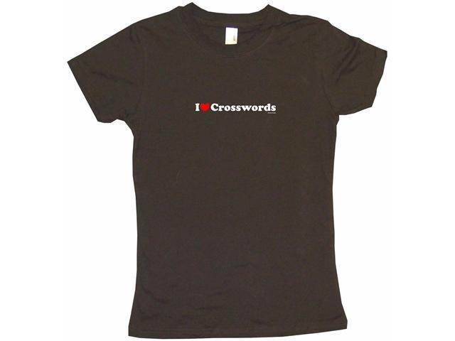 I Heart (Love) Crosswords Women's Babydoll Petite Fit Tee Shirt