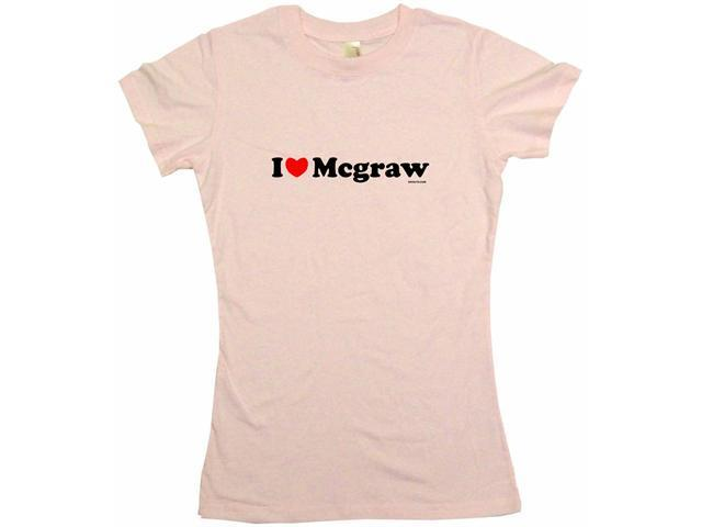 I Heart (Love) Mcgraw Women's Babydoll Petite Fit Tee Shirt