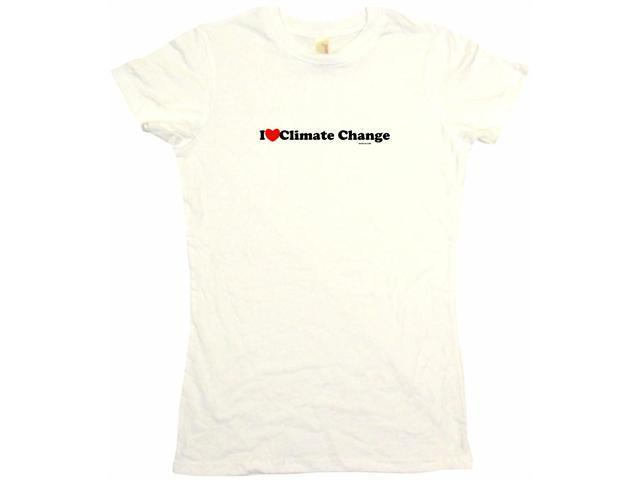 I Heart (Love) Climate Change Women's Babydoll Petite Fit Tee Shirt