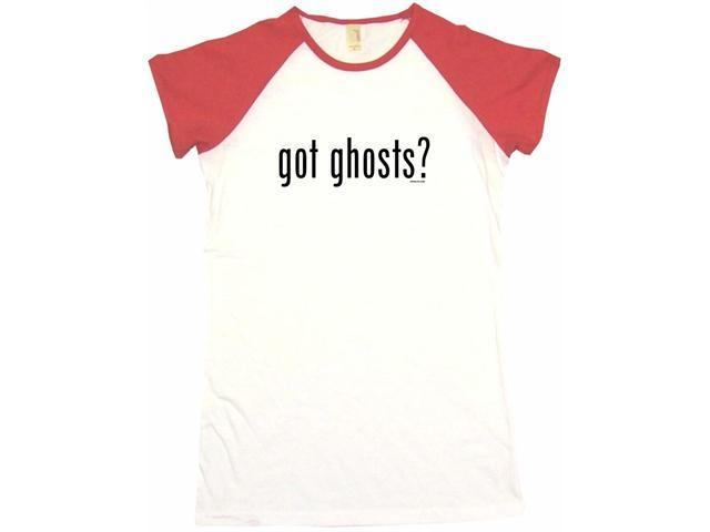 got ghosts? Women's Babydoll Petite Fit Tee Shirt