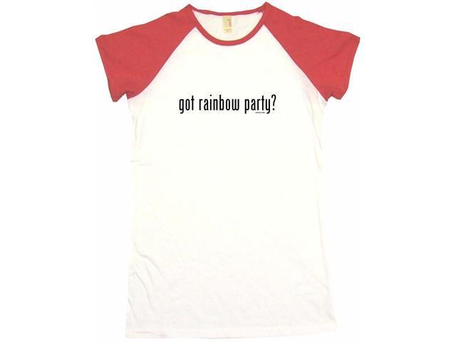 got rainbow party? Women's Babydoll Petite Fit Tee Shirt