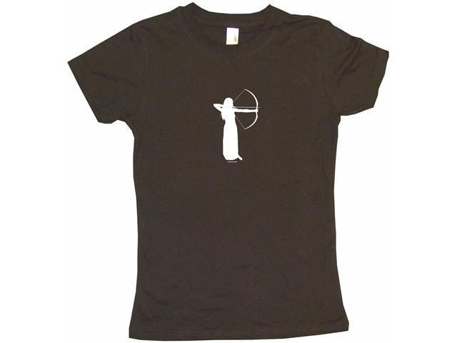 Archery Bow And Arrow Girl Women's Babydoll Petite Fit Tee Shirt
