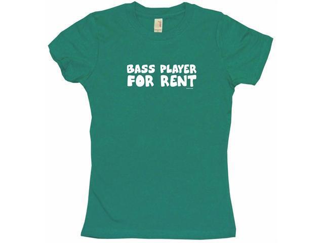 Bass Player For Rent Women's Babydoll Petite Fit Tee Shirt