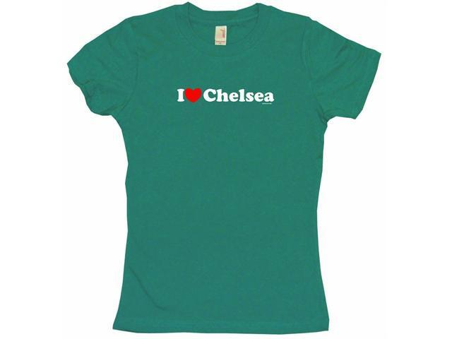 I Heart (Love) Chelsea Women's Babydoll Petite Fit Tee Shirt