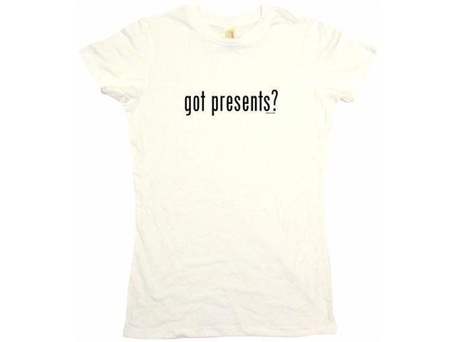 got presents? Women's Babydoll Petite Fit Tee Shirt