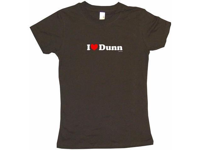 I Heart (Love) Dunn Women's Babydoll Petite Fit Tee Shirt