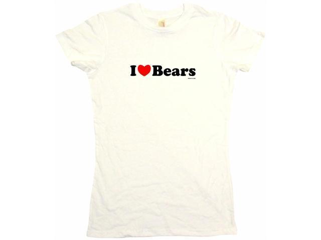I Heart (Love) Bears Women's Babydoll Petite Fit Tee Shirt