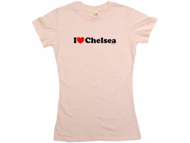 I Heart (Love) Chelsea Women's Babydoll Petite Fit Tee Shirt