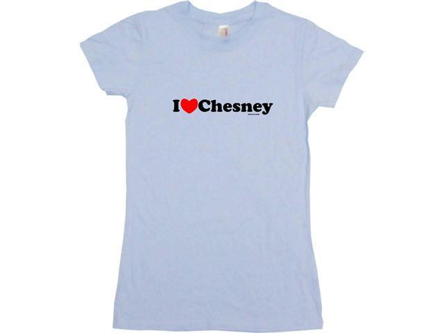 I Heart (Love) Chesney Women's Babydoll Petite Fit Tee Shirt