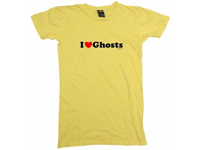 I Heart (Love) Ghosts Women's Babydoll Petite Fit Tee Shirt