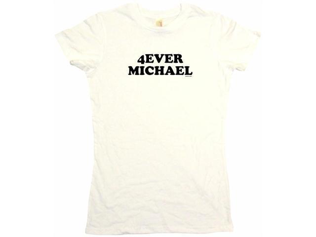 4ever Michael Women's Babydoll Petite Fit Tee Shirt