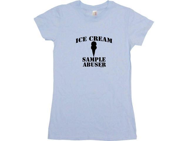 Ice Cream Sample Abuser Women's Babydoll Petite Fit Tee Shirt