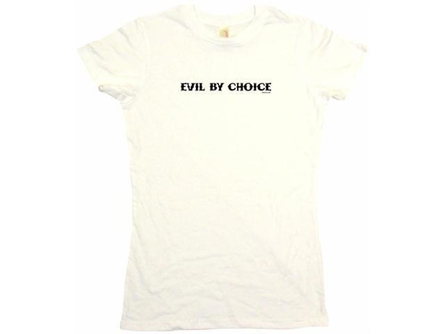 Evil By Choice Women's Babydoll Petite Fit Tee Shirt