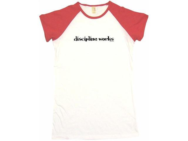 Discipline Works Women's Babydoll Petite Fit Tee Shirt