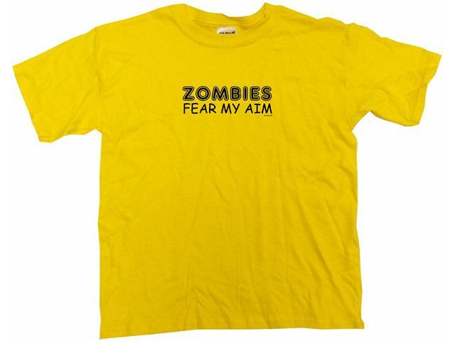 Zombies Fear My Aim Kids T Shirt