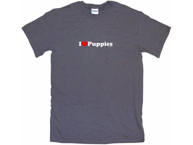 I Heart (Love) Puppies Men's Short Sleeve Shirt