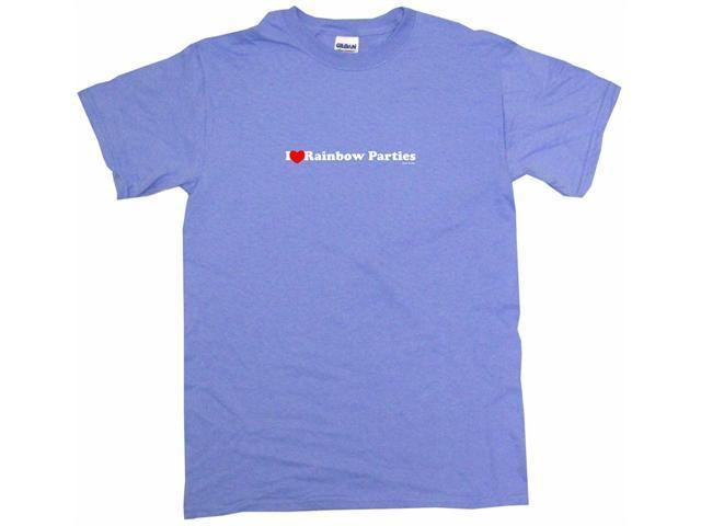 I Heart (Love) Rainbow Parties Men's Short Sleeve Shirt