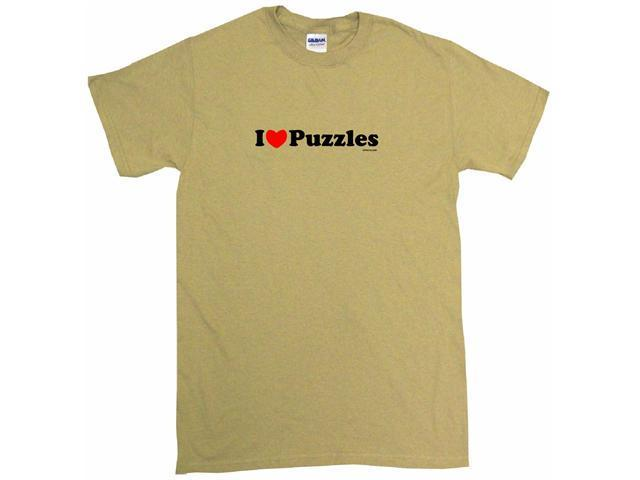 I Heart (Love) Puzzles Men's Short Sleeve Shirt