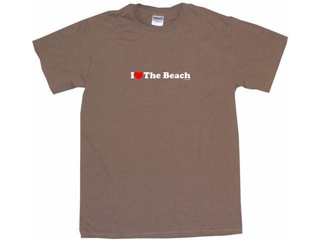I Heart (Love) The Beach Men's Short Sleeve Shirt