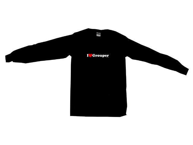 I Heart (Love) Grouper Men's Sweat Shirt