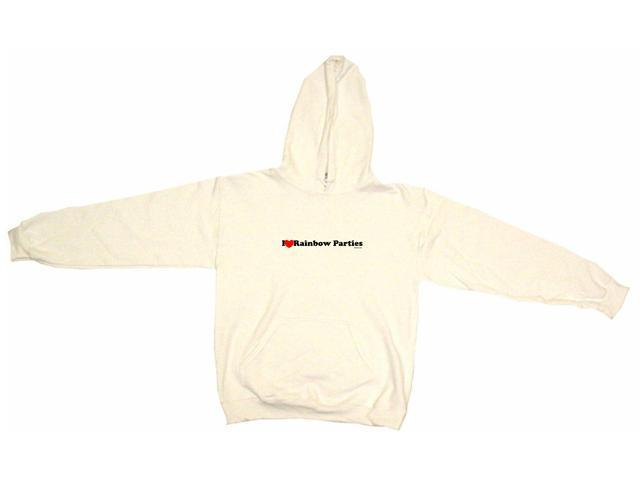I Heart (Love) Rainbow Parties Men's Hoodie Sweat Shirt