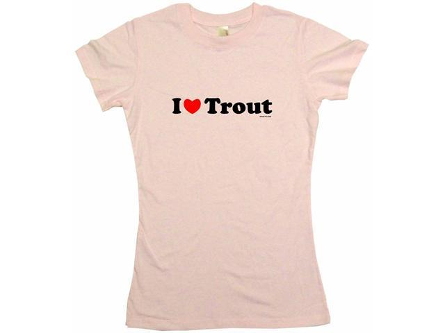 I Heart (Love) Trout Women's Babydoll Petite Fit Tee Shirt