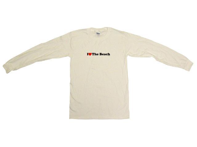 I Heart (Love) The Beach Men's Sweat Shirt