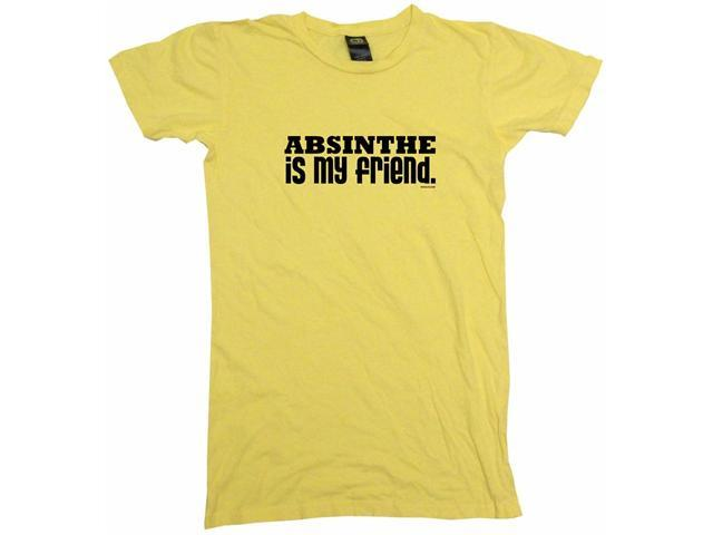 Absinthe Is My Friend Women's Babydoll Petite Fit Tee Shirt