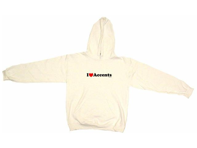 I Heart (Love) Accents Men's Hoodie Sweat Shirt