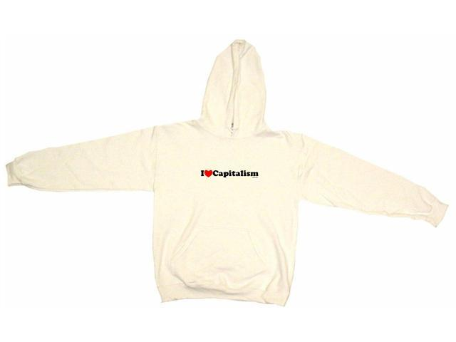 I Heart (Love) Capitalism Men's Hoodie Sweat Shirt