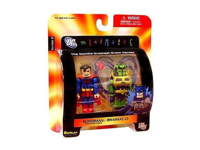 DC Minimates: Series 2 Superman Battle Damage & Brainiac 13 Figure