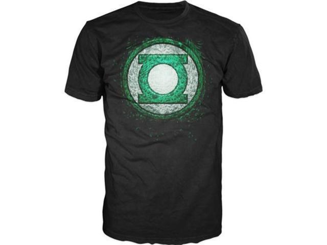 Green Lantern Movie: Tomar-Re GL Emblem Print (Black) T-Shirt LARGE