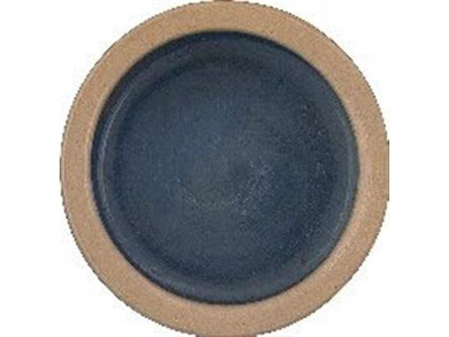 Vo-Toys Ceramic Dog Dish 5in Color Tan and Blue