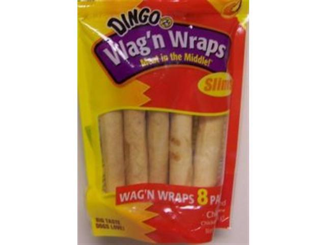 Dingo Wan'n Wraps Slims Chicken Basted 9.75oz 8 pack