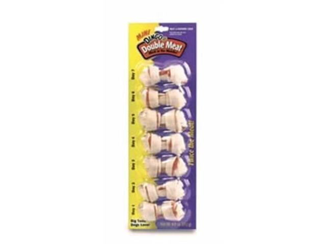 Dingo USA Double Meat Mini 2.5in White Bone 7 pack