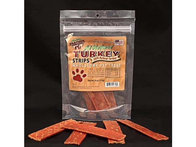 Healthy Partner Pet Treats Turkey Strips 4oz Bag