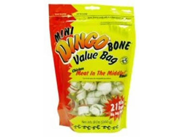 Dingo USA Mini Value Bag White 2.5in Bones 21 pack