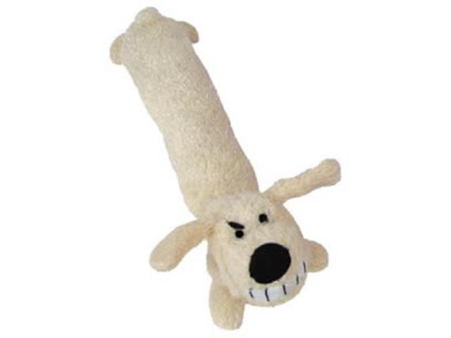 Multi Pet Loofa Dog Small  12in Plush Dog Toy Assorted Colors