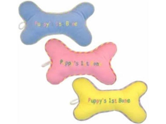 Vo-Toys Puppy First Bone Plush 8 in Assorted Dog Toy Each