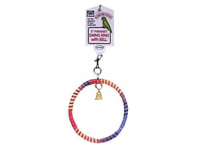 Vo-Toys Rainbow 5in Swing with Bell Bird Toy