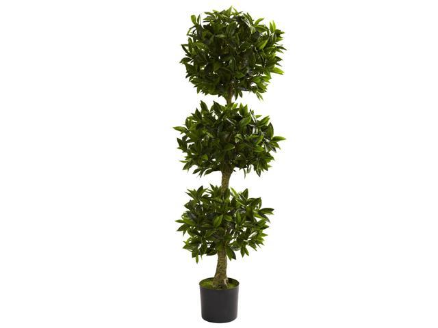 Nearly Natural 5 Triple Bay Leaf Topiary UV Resistant (Indoor/Outdoor)