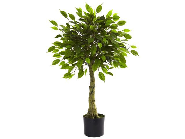 Nearly Natural 3 Ficus Tree UV Resistant (Indoor/Outdoor)