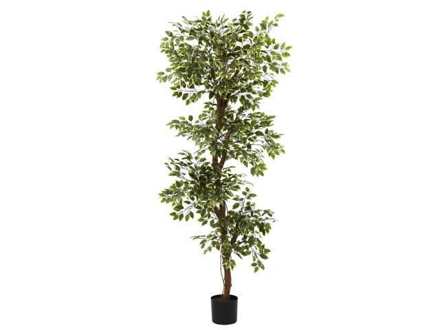 Nearly Natural 6 Variegated Ficus Tree