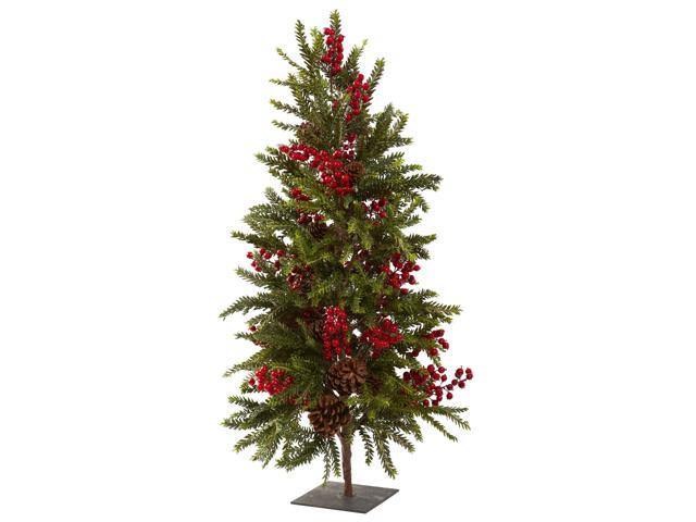 Nearly Natural 36 Pine & Berry Christmas Tree
