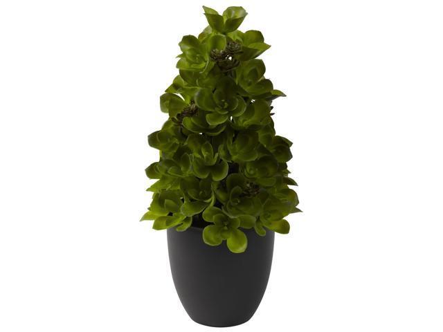 Nearly Natural Echeveria Cone Topiary