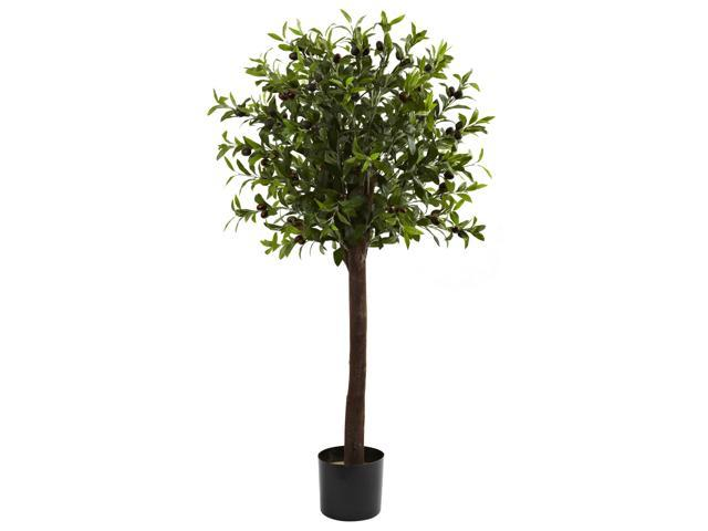 Nearly Natural 4 Olive Topiary Silk Tree